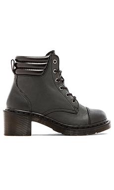 Dr. Martens Alexandra 6-Eye Padded Collar Boot in Black