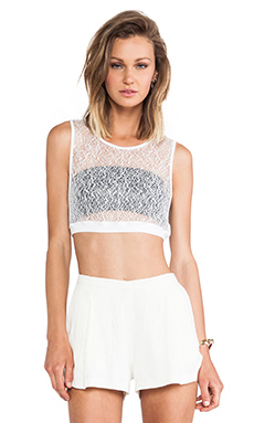 David Michael Con Slip Girl Tank in White Lace