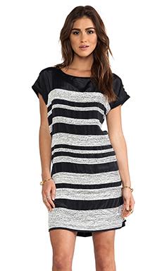 dolan Mini Sequin Stripe Dress in Black
