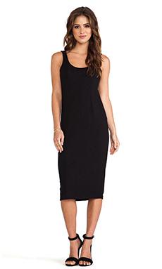 dolan U Back Midi Dress in Black