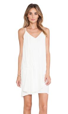 dolan Drape Front Dress in Ivory