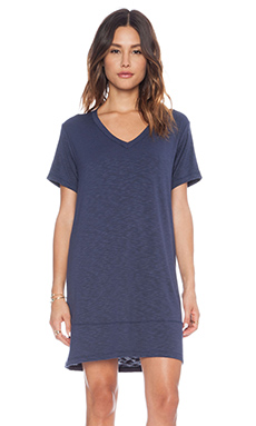 dolan V-Neck T-Shirt Dress in Night