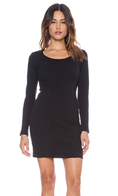 dolan L/S Bodycon Dress in Black