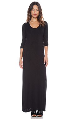dolan L/S Scoop Neck Maxi in Black