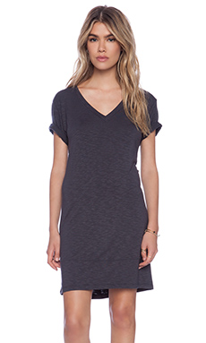 dolan V-Neck T-Shirt Dress in Tire