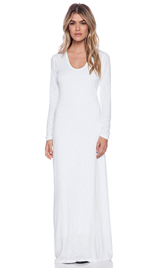 dolan L/S Scoop Neck Maxi Dress in Ivory