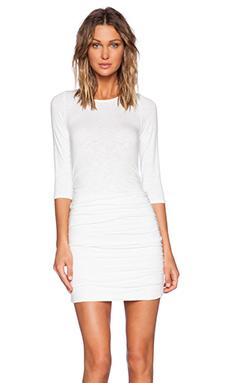 dolan Shirred Dress in White