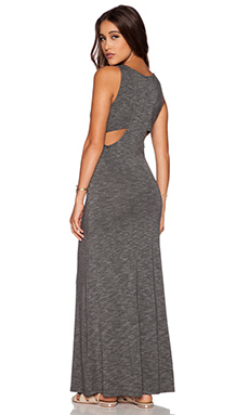 dolan Double Racerback Maxi Dress in Stone