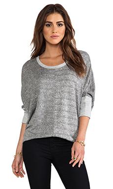 dolan Oversized Scoop Pullover in Grey