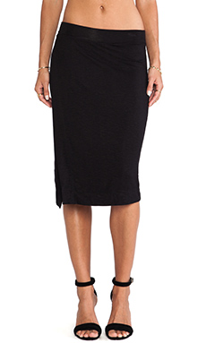 dolan Side Slit Midi Skirt in Black