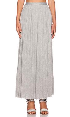 dolan Pleated Column Maxi Skirt in It Heather Grey