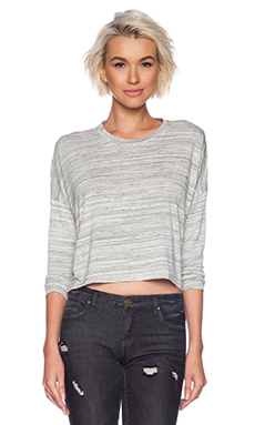 TOP CROPPED MANCHES LONGUES