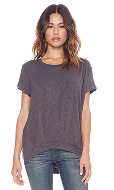 dolan Drape Front Tee in Tire