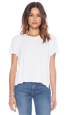 dolan Rolled Sleeve Boyfriend Tee in White