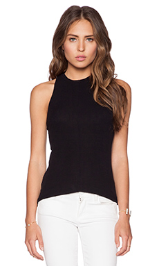 dolan Crew Neck Racerback Tank in Black