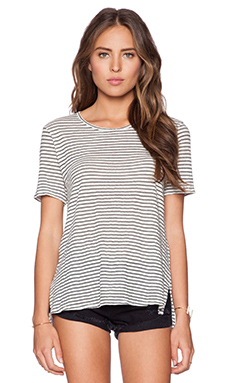 dolan Short Sleeve Crew Neck Tee in Lost Coast Stripe