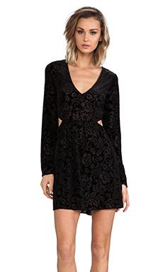 DV by Dolce Vita Barbarella Stretch Velvet Dress in Black