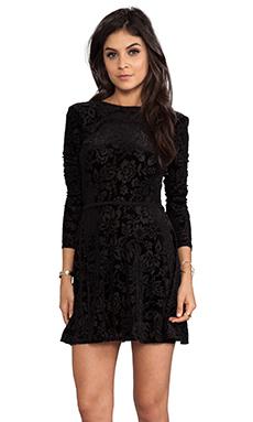 DV by Dolce Vita Azalia Stretch Velvet Dress in Black
