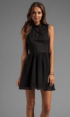 DV by Dolce Vita Romana Zigzag Dobby Dress in Black