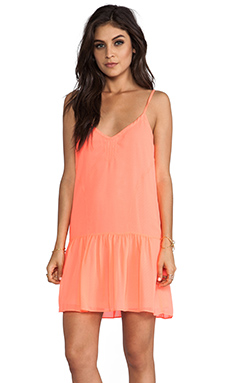 DV by Dolce Vita Tinsel Dress in Neon Coral