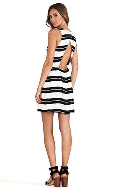 DV by Dolce Vita Hafeza Dress in Black Stripe