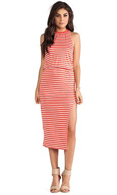Dolce Vita Calico Dress in Coral & Cream