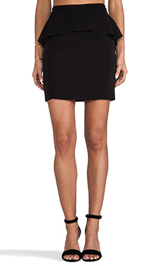 DV by Dolce Vita Darley Viscose Faille Skirt in Black