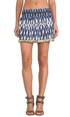 Dolce Vita Amia Skirt in Cream & Blue