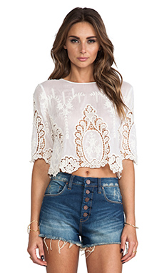 Dolce Vita Deanna Top in White & Natural