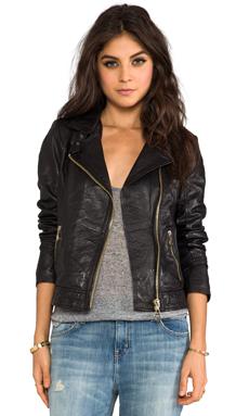 DOMA Tuscano Lamb Leather Jacket in Black