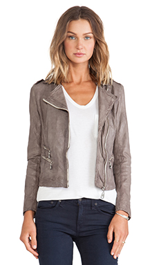 DOMA Moto Jacket in Charcoal Grey