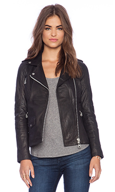 DOMA Biker Jacket in Black