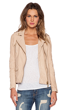 DOMA Oversized Biker Jacket in Pale