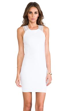 Donna Mizani Multi Strap Dress in Frost