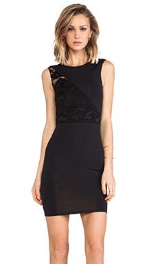 Donna Mizani Splice Lace Dress in Caviar