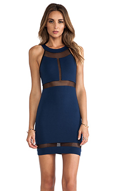 Donna Mizani Halter Panel Dress in Indigo