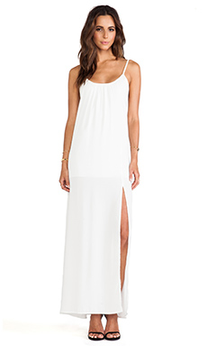 Donna Mizani Trapeze Gown in White