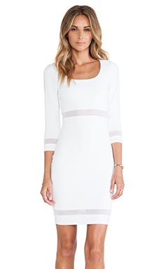 Donna Mizani Scoop Neck Mini Dress in White