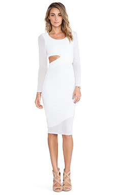 Donna Mizani Midi Cut Out Dress in White