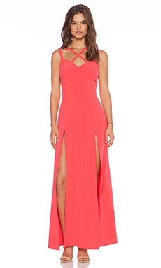 Donna Mizani Cross Front Gown in Rose
