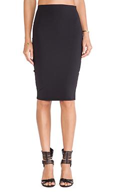 Donna Mizani Midi Skirt in Caviar