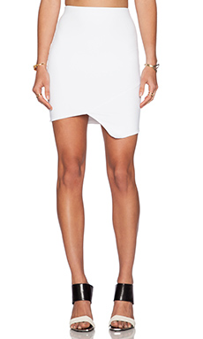 Donna Mizani Cross Over Mini Skirt in White