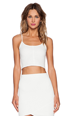Donna Mizani Quilted Cami in Ivory