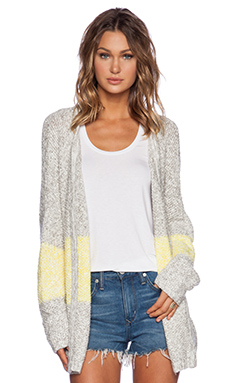 d.RA Petra Cardigan in Grey & Yellow