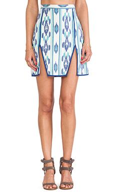 d.RA Janet Skirt in Blue Ikat