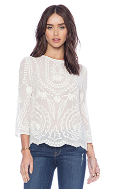 d.RA Bolton Blouse in Ivory