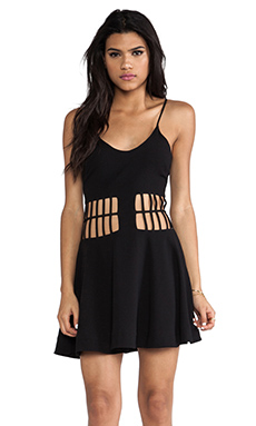 DRESS THE POPULATION Heather Dress in Black