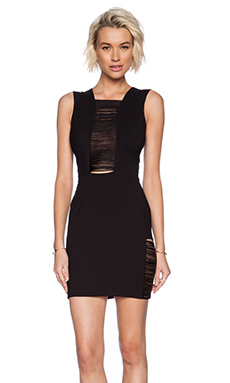 DRESS THE POPULATION Sylvie Dress in Black