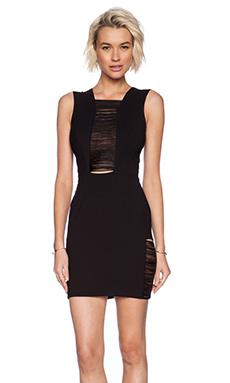 DRESS THE POPULATION Sylvie Dress in Black