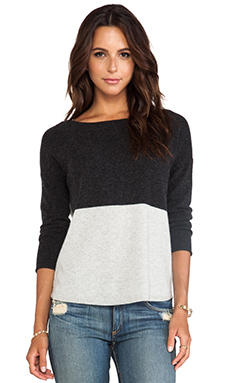 DUFFY Cashmere Sweater in Charcoal & Silver